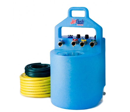 Power flushing central heating systems